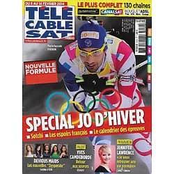 """Télé Cable Sat n°1240 08/02/2014  Spécial JO d'hiver de Sotchi/ Martin Fourcade/ Jennifer Lawrence/ """"Devious Maids"""""""