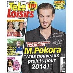 """TELE LOISIRS n°1453 04/01/2014  M Pokora/ Amal Bent/ Raphaël de Monaco/ New York/ Aznavour/ """"L'amour est dans le pré"""""""