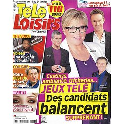 """TELE LOISIRS n°1455 18/01/2014  Jeux télé: révélations de candidats/ Coluche/ """"Les experts""""/ """"Julie Lescaut""""/ François Busnel"""