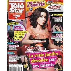 """TELE STAR n°1952 01/03/2014  Jenifer dévoilée par ses talents / Franck Sémonin/ Luis Mariano/ """"NCIS"""" Cote de Pablo"""