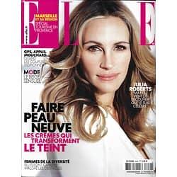 ELLE n°3556 21/02/2014  Julia Roberts/ Faire peau neuve/ Michell Dockery/ Femmes de la Diversité