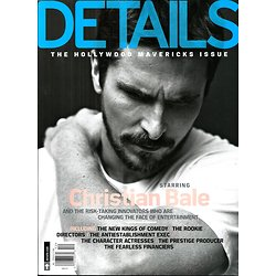 DETAILS dec.2013-jan.2014  The Hollywood Mavericks Issue/ Christian Bale