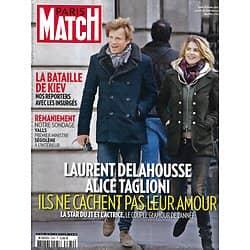 PARIS MATCH n°3380 27/02/2014  Laurent Delahousse & Alice Taglioni/ George Clooney/ Sarah Biasini & Romy Schneider/ Ukraine: la bataille de Kiev