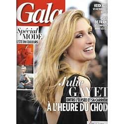 GALA n°1081 26/02/2014  Julie Gayet/ Special Mode/ Cécile De France/ Kylie Minogue/ Nougaro