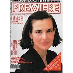 PREMIERE n°147 juin 1989   Carole Bouquet/ Spécial Cannes/ Gibson/ Dalle/ Leone