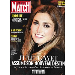 PARIS MATCH n°3381 06/03/2014  Julie Gayet/ Alain Resnais/ Ukraine/ Les Oscars/ La Tunisie revit/ Les César