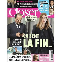 CLOSER n°457 14/03/2014  Julie Gayet & François Hollande/ Angelina Jolie/ Koh-Lanta/ Sarkozy/ Prince Harry