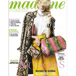 MADAME FIGARO n°21649 14/03/2014  Spécial Accessoires/ Jessica Chastain/ Jerry Hall/ Art belge