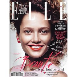 ELLE n°3559 14/03/2014  Spécial beauté/ Carmen Pedaru/ Anne Pingeot/ Sandrine Kiberlain
