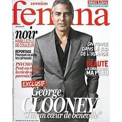 VERSION FEMINA n°623 10/03/2014  Exclusif: George Clooney/ Irlande/ Spécial Gâteaux/ Peau sensible