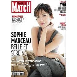 PARIS MATCH n°3384 27/03/2014  Sophie Marceau/ Municipales/ Syrie, djihadistes français/ Obama & Poutine/ Johnny Hallyday & Claude Lelouch/ Natalia Vodianova