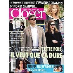 CLOSER n°459 28/03/2014  Arnaud Montebourg & Elsa Zylberstein/ Ingrid Chauvin/ Jenifer/ George Clooney