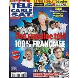 Télé Cable Sat n°1245 15/03/2014  Une semaine télé 100% Française/ Benjamin Carle/ Line Renaud/ Gondry