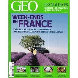 GEO n°387 mai 2011  Week-ends en France/ Les Maldives/ Copenhague/ Inondations en France