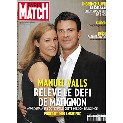 PARIS MATCH n°3385 03/04/2014  Manuel Valls/ Ingrid Chauvin/ Kylie Minogue/ Soulages/ Brésil, paradis du foot