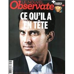 LE NOUVEL OBSERVATEUR n°2578 03/04/2014 Manuel Valls/ Kundera/ Rwanda/ Tourisme