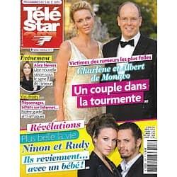 "TELE STAR n°1957 05/04/2014  Charlène & Albert de Monaco/ Marine Delterme/ ""La vie en Nord""/ Michel Piccoli/ Alizée/ Jennifer Love Hewitt"