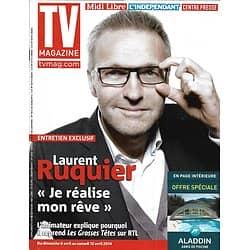 "TV MAGAZINE n°21667 06/04/2014  Laurent Ruquier/ ""Perception"" Eric McCormack/ Véronique Genest/ ""The Voice"""