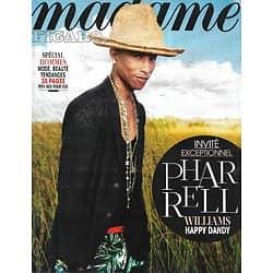 MADAME FIGARO n°21667 04/04/2014  L'invité: Pharrell Williams/ Spécial hommes/ E.Béart