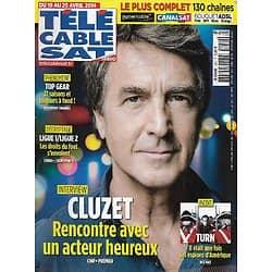 """Télé Cable Sat n°1250 19/04/2014  François Cluzet, acteur heureux/ """"Turn""""/ """"Top Gear""""/ Western"""
