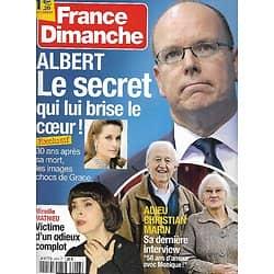 FRANCE DIMANCHE n°3446 14/09/2012  Albert II & Grace Kelly/ Mireille Mathieu/ Christian Marin/ Dave/ Céline Dion