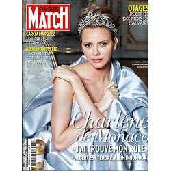 PARIS MATCH N°3388 24 AVRIL 2014  CHARLENE DE MONACO/ GARCIA MARQUEZ/ TOVATI&FREGE/ OTAGES/ UKRAINE