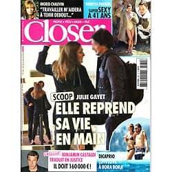 CLOSER n°462 18/04/2014  Julie Gayet/ Ingrid Chauvin/ Castaldi/ Vanessa Paradis/ Dicaprio & Garnn