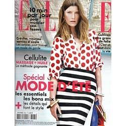 ELLE n°3565 25/04/2014  Spécial Mode d'été/ Age d'or des actrices/ Emilie Dequenne/ Stop Cellulite/ Sheryl Sandberg