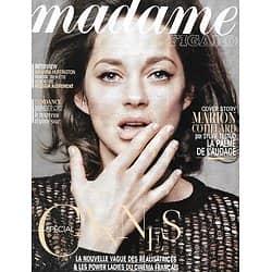 MADAME FIGARO n°21696 07/05/2014  Marion Cotillard/ Spécial Cannes/ Réalisatrices/ Femmes d'influence