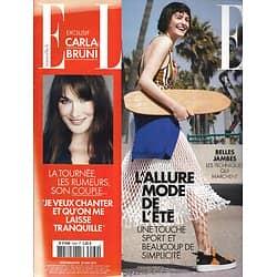 ELLE n°3569 23/05/2014  Mode sport/ Carla Bruni/ Mixité/ Vera Valdez/ Jambes légères/ L'Europe & les femmes