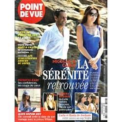 POINT DE VUE n°3188 26/08/2009  Sarkozy & Carla Bruni/ Onassis/ Kate Middleton/ Patricia Kaas/ Audiard