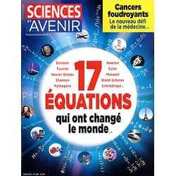 SCIENCES ET AVENIR n°808 juin 2014  Equations qui ont changé le monde/ Cancers foudroyants/ Vikings