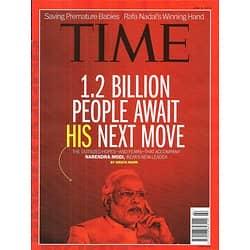 TIME VOL.183 n°21 JUNE 2, 2014  NARENDRA MODI, INDIA'S NEW LEADER/ NADAL/ PREMATURE BABIES