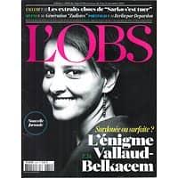 L'OBS N°2609 6 NOVEMBRE 2014  VALLAUD-BELKACEM/ BERLIN PAR DEPARDON/ SARKOZY/ FASCISME