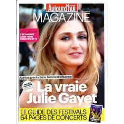 AUJOURD'HUI EN FRANCE MAGAZINE n°4596 13 JUIN 2014  JULIE GAYET/ GUIDE FESTIVALS/ CAMERON DIAZ/ FIGNON/ AGA KHAN