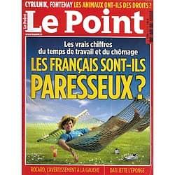 LE POINT n°2119 25/04/2013  Les Français, paresseux?/ Droit des animaux/ Dassault/ Orient-Express/ Islam français