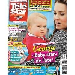 TELE STAR n°1970 05/07/2014  George, baby star de l'été!/ Alizée/ Simon Baker/ Jean Rochefort/ Les stars de l'histoire par Stéphane Bern