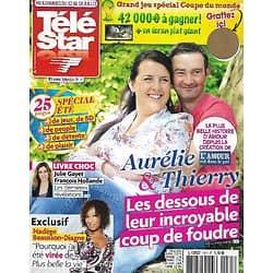 """TELE STAR n°1971 12/07/2014  """"L'Amour est dans le pré""""/ Julie Gayet & Hollande/ Nadège Beausson-Diagne/ Anne-Claire Coudray"""
