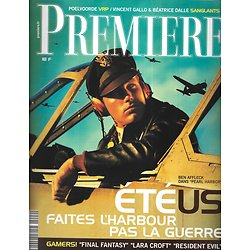 "PREMIERE n°292 juillet 2001  Ben Affleck""Pearl Harbor""/ été U.S./ Poelvoorde/ B.Dalle"