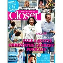 CLOSER N°475 18 JUILLET 2014  MARCEAU&CESPEDES/ DION/ BENZEMA/ LAMBERT/ KATE&WILLIAM