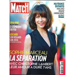 PARIS MATCH N°3400 17 JUILLET 2014  SOPHIE MARCEAU/ LA FRANCE EN PHOTO/ 14-18/ GISCARD