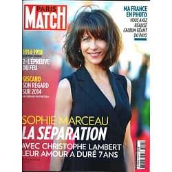PARIS MATCH N°3400 17 JUILLET 2014  SOPHIE MARCEAU/ LA FRANCE EN PHOTO/ 14-18/ GISCARD