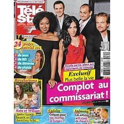 "TELE STAR n°1974 02/08/ 2014  ""Plus belle la vie""/ Kate & William/ Céline Dion/ Maria Callas/ Benjamin Castaldi"