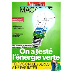 AUJOURD'HUI EN FRANCE MAGAZINE n°4687 12/09/014 Energie verte/ Séries TV/ Ukraine/ Edition