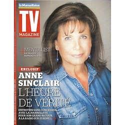 "TV MAGAZINE n°21792 31/08/2014  Anne Sinclair/ ""Mentalist"" Simon Baker/ Josiane Balasko/ Patrick Bruel"