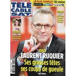 """Télé Cable Sat n°1276 18/10/2014  Laurent Ruquier """"Les Grosses Têtes""""/ Emma Stone/ Clara Morgane/ """"The Bridge"""""""