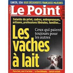 LE POINT n°2199 06/11/2014  La surchage fiscale: les vaches à lait/ Churchill/ Lutte contre le Cancer/ Matthew McConaughey/ Spécial cocktails