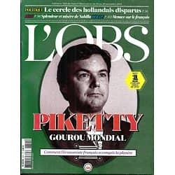 L'OBS N°2611 20 NOVEMBRE 2014 PIKETTY/ NABILLA/ LE FRANCAIS/ HOLLANDAIS/ BIRKIN- GAINSBOURG
