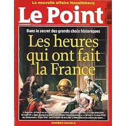 LE POINT n°2205-2206 18/12/2014  Les heures qui ont fait la France/ Rétro 2014/ Houellbecq/ Génération Valls/ Spécial cadeaux