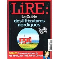LIRE n°393 mars 2011 LE GUIDE DES LITTERATURES NORDIQUES/ CORNWELL/ LARSSON/ KAFKA